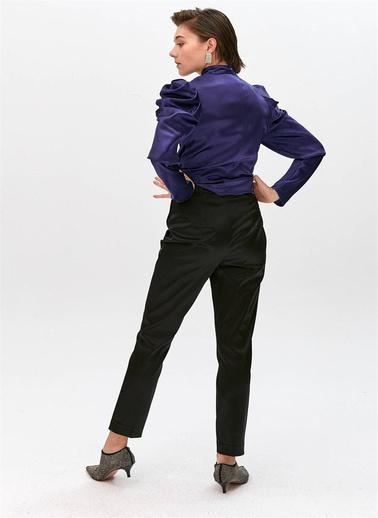 Rue Kısa Paça Dar Kesim Pantolon Siyah